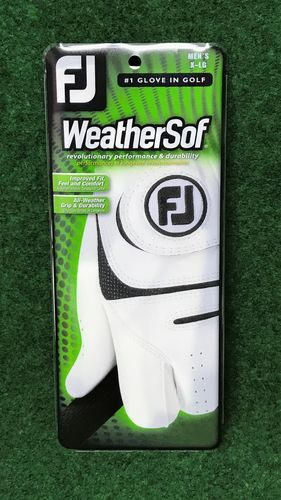 Footjoy Weathersof Heren Links Golfhandschoen Zwart/Wit