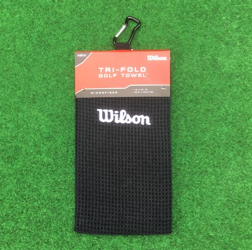 Wilson Tri Fold Golf Towel Black