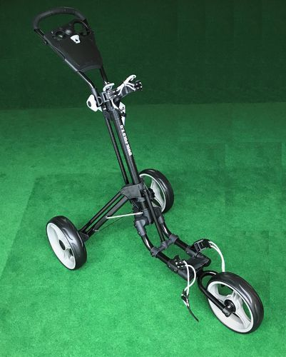 Skymax Qwik Fold 3.0  3 Wheel Push Golfbag Trolley