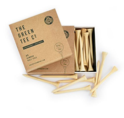The Green Tee Bamboo Golf Tee 40 stuks 70mm